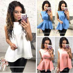 Женские блузы и рубашки с коротким рукавом и без НОРМА