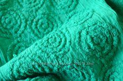 Батист прошва, вышивка бежевый, зеленка, отрезы