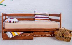 Кровать деревянная для ребенка, из бука. Кровать МАРИО. фабрика Олимп