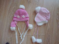 Зимние шапки на девочку 4-6 лет