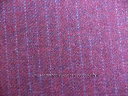 отрез шерстяной костюмной ткани -вишня