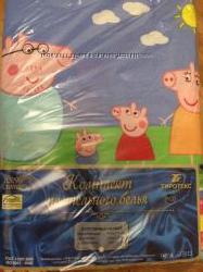 Свинка Пеппа и Джорж на постельном вашего ребенка
