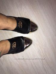 Туфельки шанель золотой носик