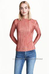 Топ с длинным рукавом стильная блуза брендовая кофта h&m