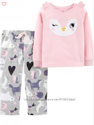 Флисовая пижама CARTERS для девочки 3, 4 года