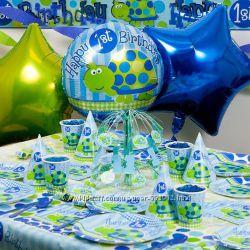Одноразовая посуда и аксессуары для первого дня рождения из Германии