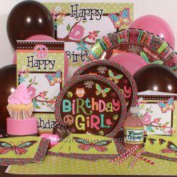 Н-р одноразовой посуды для детского Дня Рождения в стиле Хиппи Hippie Chick