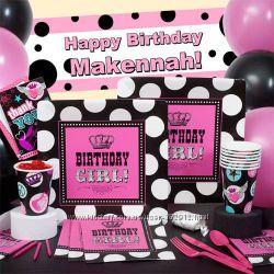 Набор одноразовой посуды для детского Дня Рождения в стиле Rocker Girll