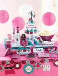 Набор одноразовой посуды для детского Дня Рождения в стиле БУТИК МОДНИЦ