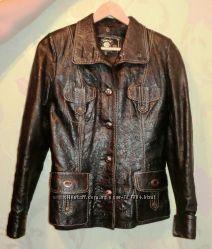 Стильная кожанная куртка пиджак С-М Турция как новая
