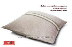 подушка натуральная диванная, лён