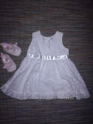 Платье белое 3-6 мес Adams kids
