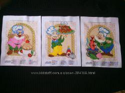 Коллекционная вышивка бисером гномики - поварята