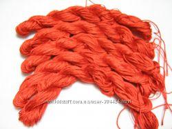 Красная нитка для плетения браслетов Шамбала  Красный шнур