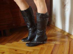 кожаные зимние сапоги Rieker стелька 26, 5 см.