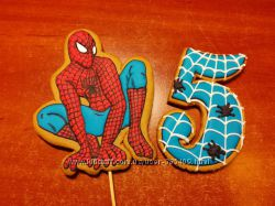Пряники спайдермен, пряники человек паук