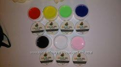 Гель-краски Color gel-белая, черная, розовая, красная