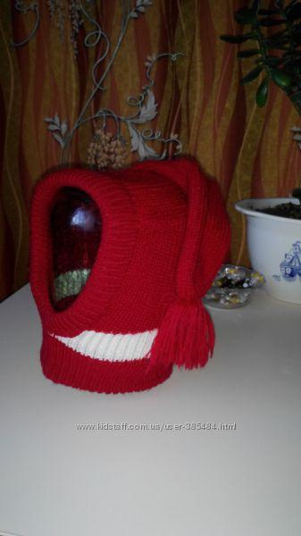 Продам шапку-хамут на девочку 3-5лет , весна-осень
