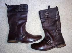 Сапоги деми Zara 38 коричневые