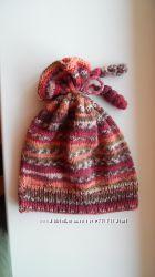 Демисезонная вязаная шапка и шарф на 3-4 года, ручная работа