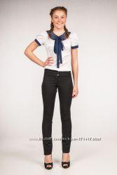 Красивые школьные брюки для девочек 6-17 лет две стильные модели от ТМ ФЕЯ