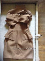Новое кошемировое пальто размер 44