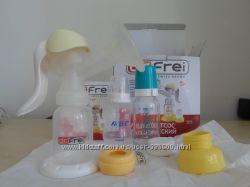 Молокоотсос доктор Frei,  бутылочки в подарок