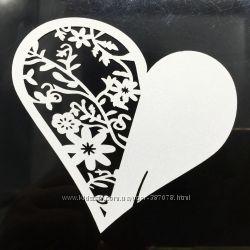 Свадебная именная карточка Сердечко