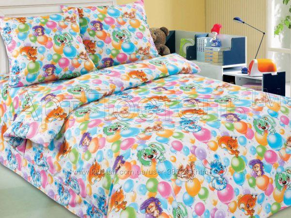 Комплекты постельного белья. Детские и подростковые расцветки. Поплин.