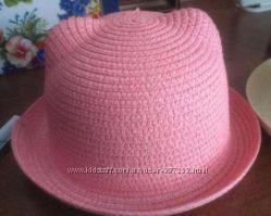 Шляпка с ушками новая, розовая