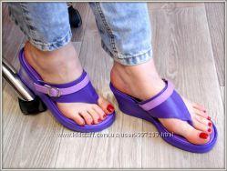 Шлепанцы вьетнамки фиолетовые Распродажа 36р