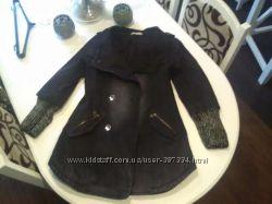 Стеганное джинсовое пальто