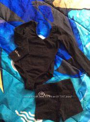 Купальник и шорты для гимнастики