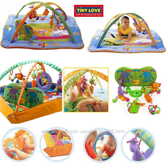 Продам развивающий коврик Зоосад Tiny Love и допол. игрушка, в отл. состоян