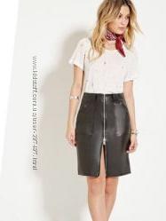 США стильная юбка под кожу р. S