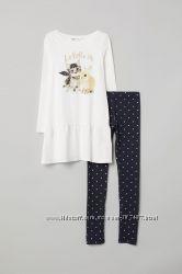 H&M красивое платье с лосинами размеры 2-4, 4-6, 6-8