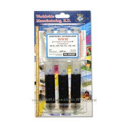 Набор для Заправки Картриджей WWM для HP 21121122 3 x 20мл Black Пигме