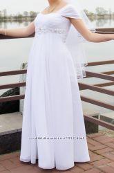 Белое свадебное платье 50р
