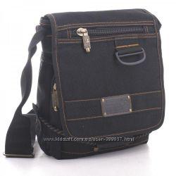 af3391cb0323 Чёрная сумка мессенджер из брезента Goldbe, 315 грн. Мужские сумки ...