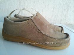 Замшевые демисезонные туфли 37-38р. Италия