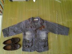 стильный пиджак на модника 2-3года