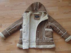очень стильная курточка под дубленку на 5-7 лет