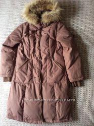Пуховое пальто Snowimage с воротником енота, р. S, M
