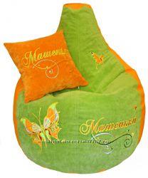 Кресло мешок груша с вышивкой