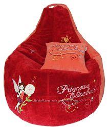 Бескаркасное кресло мешок именной подарок ребенку пуф детский