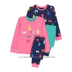Качественные наборы пижам из Англии для девочек. цена за 2 шт.