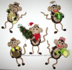 Кофейные обезьянки магниты