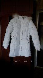 Куртка-пальто белая осень-зима