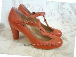 Красивые кожаные туфли  Next UK 9 43р-р большой размер новые