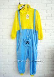 Флисовая пижама кигуруми человечек слип  миньон minions гадкий я М-ка